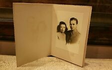 Vintage Photo Couple Man Woman Antique Soldier Uniform  Undated EUC