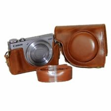 KINOKOO CANON CAMERA CASE PU LEATHER SHOULDER STRAP BROWN POWERSHOT G9 X
