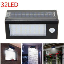 Rechargeable Solar PIR Motion Sensor Security 32 Leds 400 Lumens SMD Light New