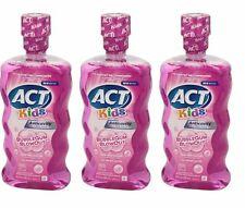 ACT Kids Mouthwash Fluoride Rinse Bubble Gum Blowout 16.9oz (3 pack) ****