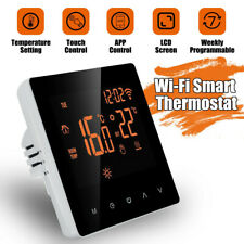 Smart Programmable WifiWireless Heated Digital Thermostat LCD Screen App Control