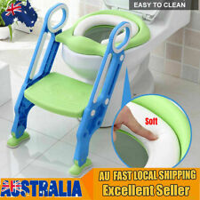 Non Slip Toilet Seat Ladder Baby Toddler Potty Training Step Trainer Safety Bj