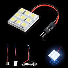 9 SMD 5050 LED 501 T10 W5W  FESTOON Interior Dome Light Panel Lamp 12V WHITE