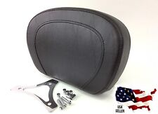 TOP STITCH PASSENGER PAD & MOUNTING BRACKET HARLEY SISSY BAR BACKREST ROAD KING