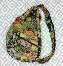 Vintage Ameribag Tapestry Shoulder Bag Carpet Bag Healthy Back Bag Floral Print