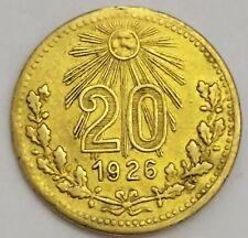 México con 20 centavos 1926 cristero bronze Grove 458b superb condition