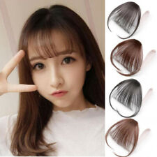 Invisible Thin Neat Air Bangs Human Hair Extension Clip In/on Fringe Hairpiece