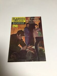 Golden Age Comic Book - Classics Illustrated #110 - A Study in Scarlet Fn Fine 6