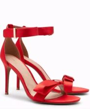 Brand New NEXT Red Satin Ankle Strap High Heel Sandals Size UK 7