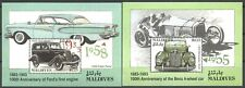 Autos, Ford, Mercedes - Malediven - 2 Bl. ** MNH 1993