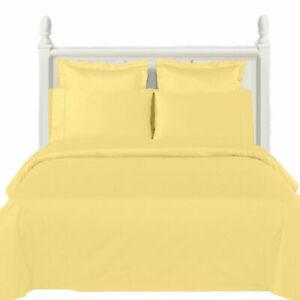 Luxury 600 Thread Count 100% Cotton Duvet Cover Set 14 Soft Solid Colors