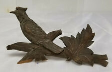 Antique Carved Black Forest Style Carved Walnut Bird Architectural Fragment
