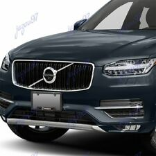 New For 2PCS VOLVO Black Stainless Steel Metal License Plate Frame Carbon Fiber