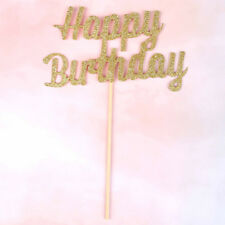 gold/silver giltter cake topper party supplier happy birthday candle giftDecorEP