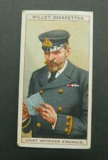 cigarette Tobacco card Wills Naval Dress & Badges 1909 #32 Chief Artificer Eng,