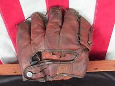 Vintage 1950s Hutch Leather Baseball Glove Fielders Mitt Hoot Evers Model Tiger