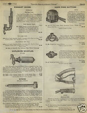 1923 PAPER AD Stiles Explosion Whistle Aermore Ford Car Exhaust Siren Liberty