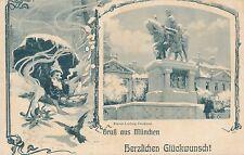 AK Gruss aus München, Herzlichen Glückwunsch mit Zwerg, Bayern 12/11/14