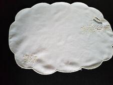 Oster Deckchen oval Ostermotiv 47,5 x 33,5 cm