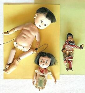 JAPANESE DOLLS - Various sizes for restoration or parts