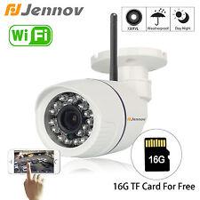 Jennov 720P IP Camera -HD Wireless WiFi Audio Onvif CCTV 1.0MP 16G SD TF Card