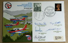 World Light Aeroplane Championships Austria 1977 Cover Signed By British Team