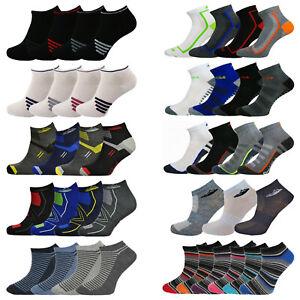 Mens Patterned Trainer Socks Stripes Design Funky Sports Gym Yoga Ankle Liner