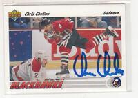 CHRIS CHELIOS 1991-92 Upper Deck #354 Blackhawks TTM IP Autographed Signed