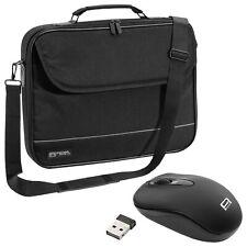 NOTEBOOK Laptop TASCHE 14 Zoll 14,1 Notebooktasche Schutz Case + schnurlose Maus