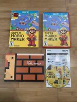 Super Mario Maker (Nintendo Wii U, 2015) Book And Box - Ships Same Day