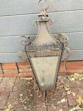 Iron and Glass Hanging Candle Holder / Lantern