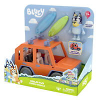 BLUEY HEELER 4WD FAMILY VEHICLE playset + BANDIT (DAD)  figurines TOYS FAST POST