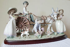 Lladro Enchanted Outing porcelain from Spain #1797 MINT orig Box LE 275/3000