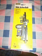 NIP  Stanley Slide Action Bolt 76-0814 for Gates Doors Reversible Flat or Round