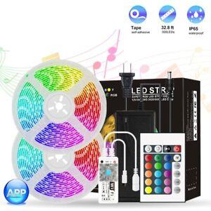 Led strip lights RGB,Waterproof,10M 5050  Light Strip with Wi-Fi 24Key Remote