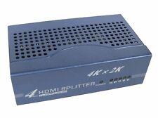 4 Port HDMI Splitter - 4k 3D splits the HDMI Signal to 4 Monitors or HDTV's