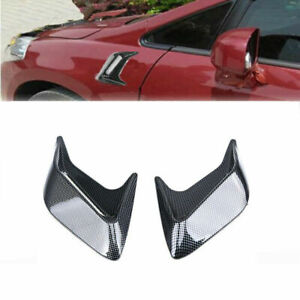 2x Universal Car Air Flow Fender Side Vent Decoration Sticker Carbon Fiber Style