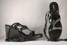Women's Donald Pliner Gwen Sport-i-que Black Leather Leg Strap Sandals US 10