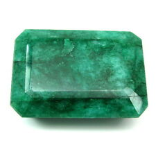 Rare Huge 777Ct Natural Brazilian Green Emerald Rectangle Shape Faceted Gemstone