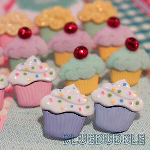 FUNKY CUP CAKE EARRINGS CUTE KITSCH RETRO SWEET JUNK FOOD MUFFIN FUN COOL BAKER