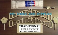 CEILING HANGING CLOTHES AIRER KIT CAST IRON ENDS ROPE KITCHEN LAUNDRY MAID DRYER
