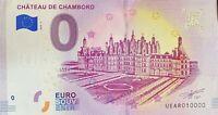 BILLET 0  EURO  CHATEAU DE CHAMBORDFRANCE  2018-3  NUMERO 10000 DERNIER