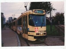 CPA PK AK PHOTO  TRAM TRAMWAY STIB BRUXELLES AVENUE HOUBA DE STROOPER 1988