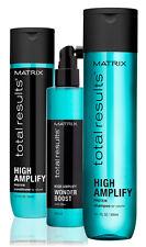 MATRIX NEW TOTAL RESULTS HIGH AMPLIFY SHAMPOO & CONDITIONER 300ml + WONDER BOOST