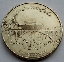 LUXEMBOURG HERITAGE Collectors Coin, Pont Adolphe 31mm 13g Alpaca II6.2