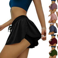 Women Casual Hot Shorts Fashion Two-layer Yoga Bottom Breathable Fitness Pants