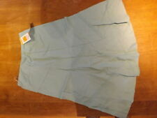 Knee Length Linen A-line Skirts for Women