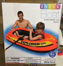 Intex Explorer 100 Inflatable Boat Kid Raft Tube Pool Lake Rivers