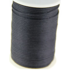 black 2mm Rattail Satin Cord Macrame Beading Nylon kumihimo String DIY 10yds