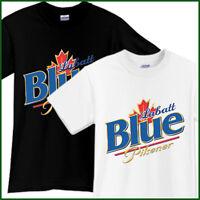 LABATT BLUE Beer T-Shirt Brewery Ale Promo Black White TShirt Tee Size S-2XL